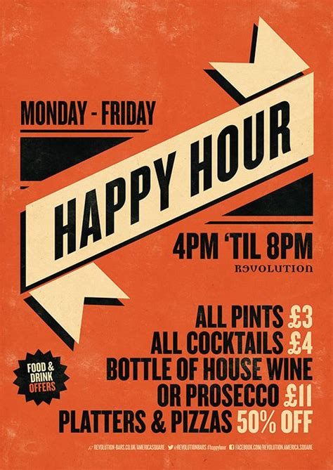 design poster online uk happy hour graphic design poster for revolution bars by