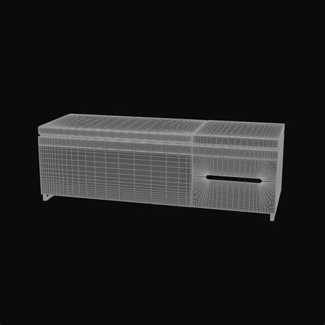 cognita bench 3d model blu cognita storage bench