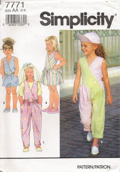 jumpsuit pattern child child s jumpsuit jumper sewing pattern size 2 4