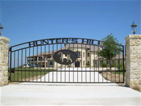 lowes alamo ranch custom iron driveway gates lake san antonio
