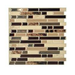 Decorative Wall Tiles Kitchen Backsplash Smart Tiles Bellagio Keystone 10 00 In X 10 06 In Peel