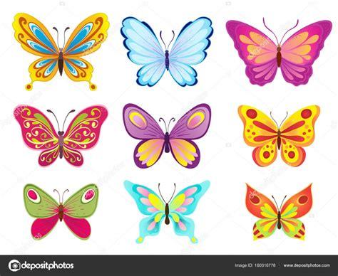 imagenes mariposas para uñas набір барвисті мультфільм метеликів на білому векторні