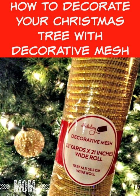 how to decorate your christmas tree with decorative mesh