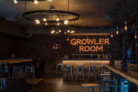 growler room vintage custom lighting design romer s burger bar in port moody