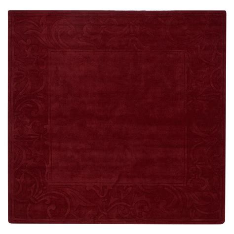 Square Area Rugs Home Decorators Collection Cyrus Burgundy 7 Ft 9 In Square Area Rug 2921495150 The Home Depot