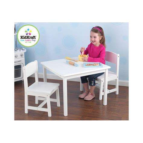 art desk for 6 year old kidkraft aspen and 2 chair set in white for 3 8 yr