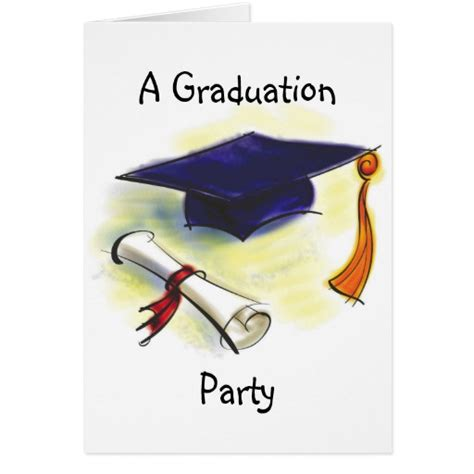 Graduation Cards Free Templates by Graduation Invitation Template Zazzle