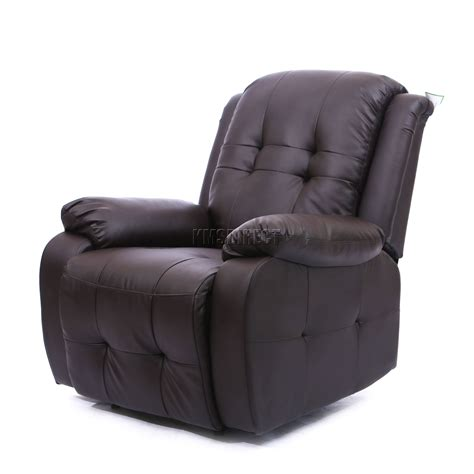 luxury recliner sofa foxhunter luxury 1 seater leather cinema recliner sofa
