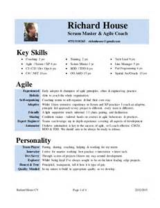 cv rich house scrum master agile coach scrum master resume sle velvet jobs
