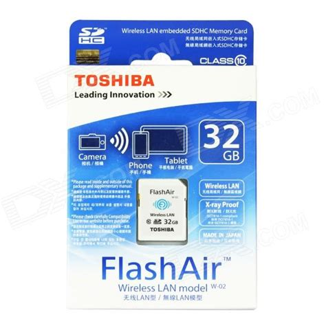 Termurah Toshiba Flash Air Wireless Sd Card Class 10 32gb Sd toshiba flashair wireless lan w 02 sdhc memory card white 32gb class10 free shipping