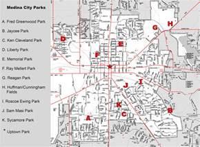 Medina Ohio Map by Medina City Parks Map The City Of Medina Ohio