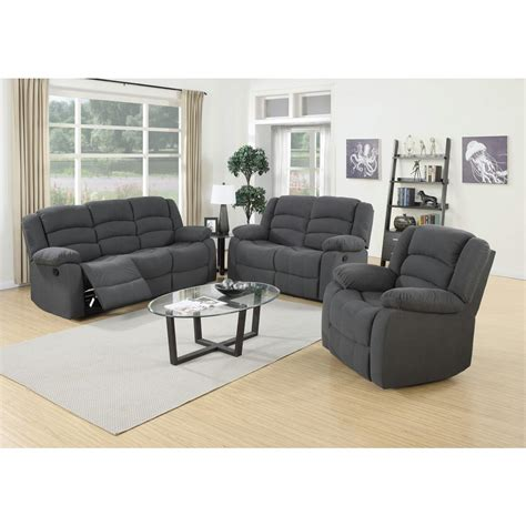 living room suits 3 piece blue gray living room suite s6022 the home depot