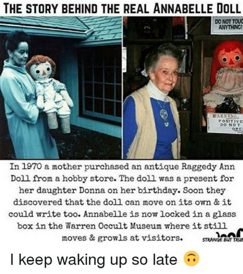 the annabelle doll story 25 best memes about raggedy raggedy memes