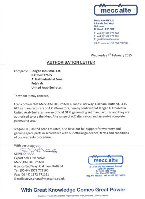 oem authorization letter format 28 oem authorization letter format fresher business