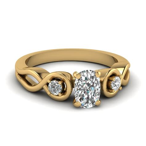 cheap 3 cushion cut engagement rings fascinating