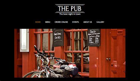 Bar Club Website Templates Restaurants Food Wix Free Bar Website Template