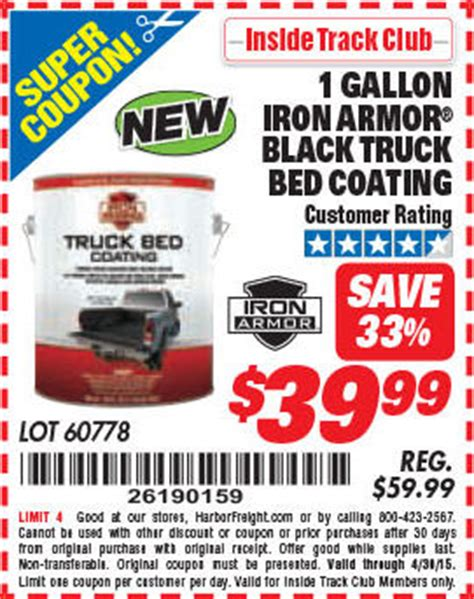 Iron Armor Truck Bed Coating by Harbor Freight Tools Coupon Database Free Coupons 25