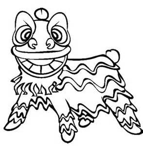 lion dance coloring page image