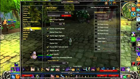 wow raid frame add ons default ui basics hiding the party raid frames without an