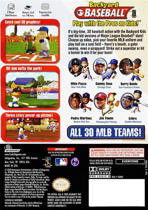 backyard baseball box for gamecube gamefaqs