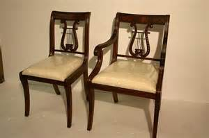 Duncan Phyfe Lyre Back Dining Chairs Harp Back Chair Furniture Free Home Design Ideas Images