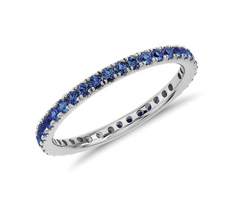 Eternity Rings by Riviera Pav 233 Sapphire Eternity Ring In 18k White Gold 1
