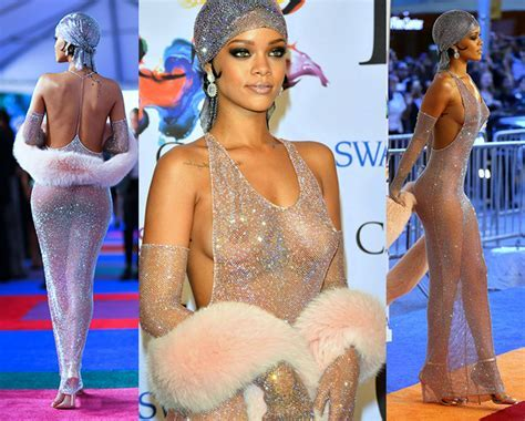 Rihanna S Only Regret About Her Famous Naked Dress Fashion Style Mag
