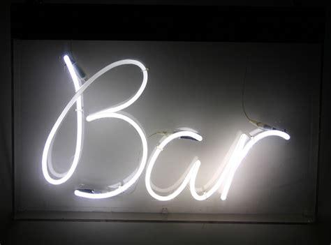 White Neon Sign