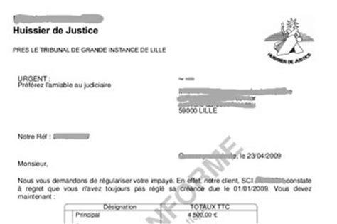 Exemple De Lettre Huissier De Justice Impact Huissier