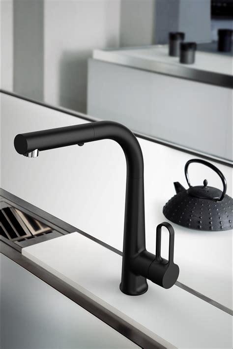 rubinetti carlo frattini black kitchen taps from fima carlo frattini