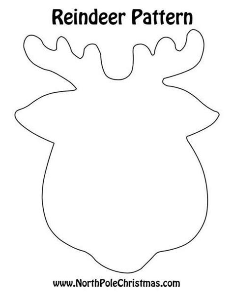 printable reindeer face templates pinterest the world s catalog of ideas