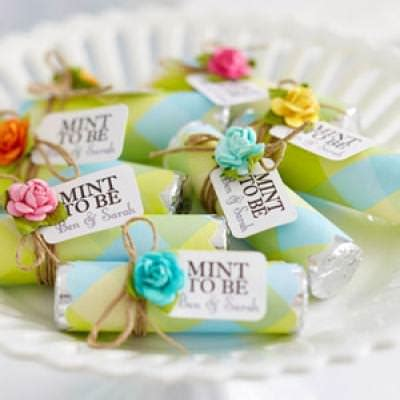easy to make bridal shower favors mint to be wedding favors tip junkie