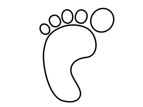 footprint template printable footprint template printable cliparts co