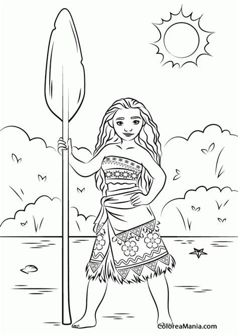 imagenes para colorear moana colorear princesa moana de vaiana vaiana dibujo para