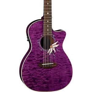 Lotus Flower Acoustic Guitars Flora Series Passionflower Cutaway