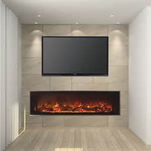 modern linear fireplaces modern flames 60 quot landscape series linear electric