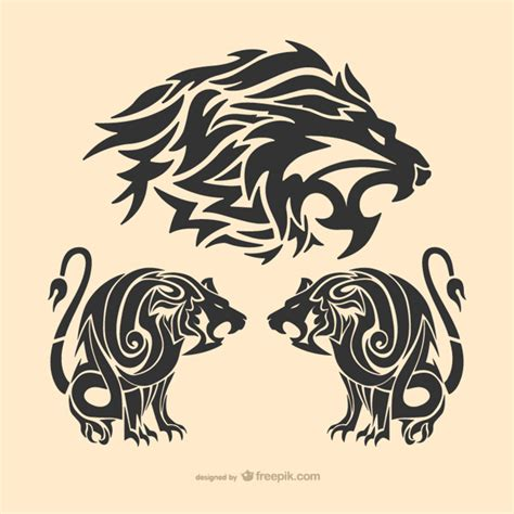 lion tattoo photo download tribal lion tattoo vector free download