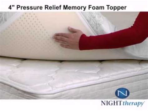 Therapy 4 Inch Memory Foam Mattress Topper by Therapy 4 Quot Pressure Relief Memory Foam Topper