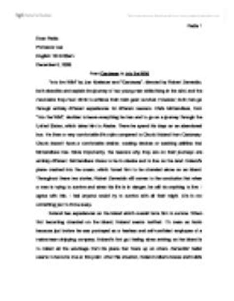 Chris Mccandless Essay by Into The Theme Essay Myteacherpages X Fc2