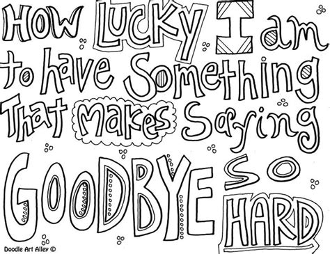 printable goodbye quotes quote coloring page saying goodbye art group