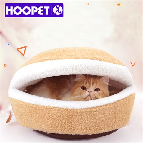 hamburger bed for sale hot sale warm cat bed house hamburger bed disassemblability windproof pet puppy nest