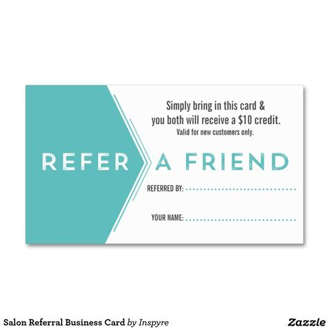 free referral card templates for cleaning salon referral business card template make it yours