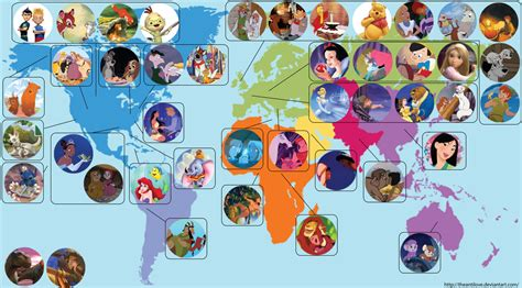 disney maps the wonderful world of disney according to americans a spoonful of sugar in the circle of