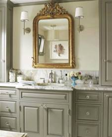 Gray Bathroom Cabinets Gray Bathroom Bathroom Benjamin Edgecomb Gray House Beautiful