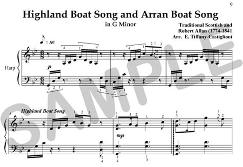 arran boat song sheet music sylvia woods harp center celtic books pdfs scottish
