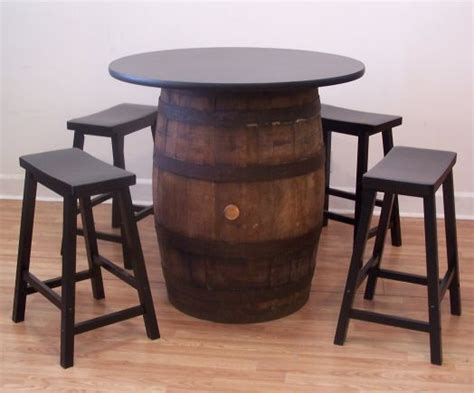 barrel kitchen table white oak whiskey barrel table 36 quot tabletop 4 24 quot black