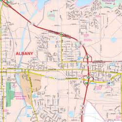 albany map albany dougherty county ga wall map keith map service