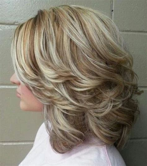 medium to short hairstyles with highlights and layers or stacked the difference between shag and layered haircuts