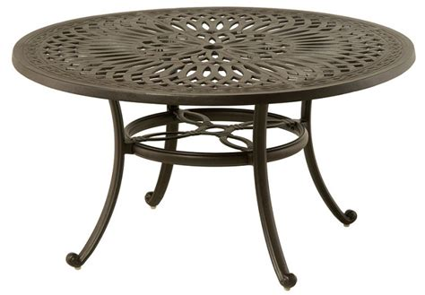 Lazy Susan For Patio Table Mayfair By Hanamint Luxury Cast Aluminum 54 Quot Dining Table W Inlaid Lazy Susan