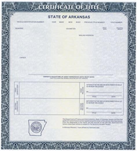 Arkansas Auto Title Services   Auto Title   Bonded Title